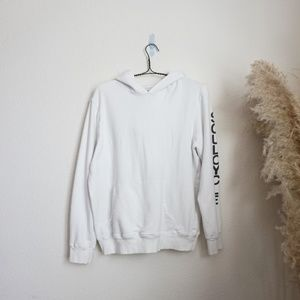 Soulcycle white oversized long white hoodie